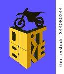 motorcycle 3d logo  dirt bike...   Shutterstock .eps vector #344080244