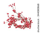 Christmas Garland With Red...