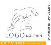 dolphin. animal. logo template. ... | Shutterstock .eps vector #344083298