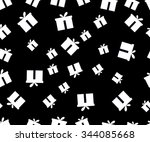 seamless pattern. the pattern... | Shutterstock .eps vector #344085668