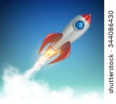rocket launch illustration | Shutterstock .eps vector #344086430