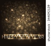 festive new years background... | Shutterstock .eps vector #344092139