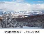 view from the top of  ski... | Shutterstock . vector #344108456
