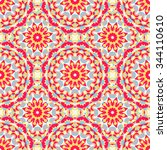 vector ethnic colorful pattern...   Shutterstock .eps vector #344110610