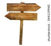 two blank arrows crossroad...   Shutterstock . vector #344119940