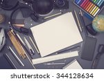 mockup image with blank... | Shutterstock . vector #344128634