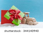 christmas holiday concept with... | Shutterstock . vector #344140940