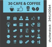 coffee shop  cafe  icons  signs ... | Shutterstock .eps vector #344143064