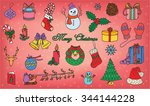 christmas and new year pattern | Shutterstock .eps vector #344144228