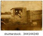 ussr   circa 1940s  an antique... | Shutterstock . vector #344144240