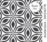 vector pattern. monochrome... | Shutterstock .eps vector #344146778