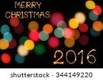 merry christmas 2015 writing...   Shutterstock . vector #344149220