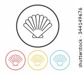 shell line icon | Shutterstock .eps vector #344149676