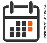 calendar weekend vector icon....   Shutterstock .eps vector #344152766