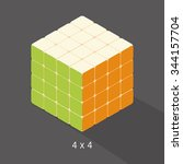 Vector Cube Toy Puzzle  4x4...