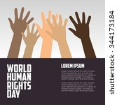 human rights day  poster ... | Shutterstock .eps vector #344173184