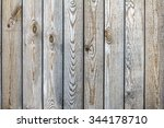 Old  Wooden Fence From Boards...