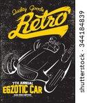 vintage race car for printing... | Shutterstock .eps vector #344184839
