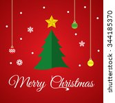merry christmas greeting card | Shutterstock .eps vector #344185370
