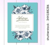 invitation with floral...   Shutterstock .eps vector #344188286