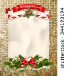 christmas abstract gold... | Shutterstock .eps vector #344193194