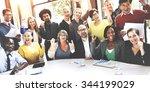 business team success... | Shutterstock . vector #344199029