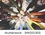 Group Of Diverse Hands Togethe...