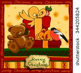 design a christmas card with... | Shutterstock .eps vector #344205824
