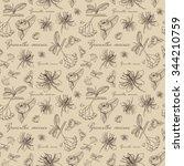 vector seamless floral pattern... | Shutterstock .eps vector #344210759