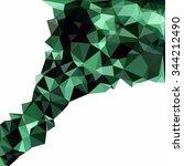 green polygonal mosaic...   Shutterstock .eps vector #344212490