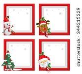 set of christmas frames vector... | Shutterstock .eps vector #344215229