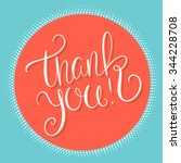 thank you card.  | Shutterstock .eps vector #344228708