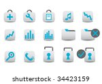 different professional icons.... | Shutterstock . vector #34423159