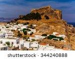 greece  island rhodes. top view ... | Shutterstock . vector #344240888