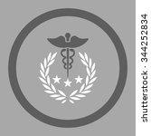 caduceus logo vector icon.... | Shutterstock .eps vector #344252834