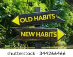 old habits   new habits... | Shutterstock . vector #344266466