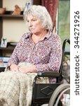 unhappy senior woman sitting in ...   Shutterstock . vector #344271926