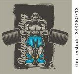 bodybuilder | Shutterstock .eps vector #344280713