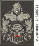 bodybuilder | Shutterstock .eps vector #344280716