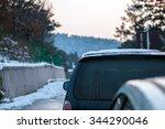 cars on winter road | Shutterstock . vector #344290046