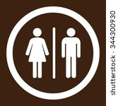 toilets vector icon. style is... | Shutterstock .eps vector #344300930