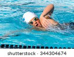 close up action shot of teen... | Shutterstock . vector #344304674