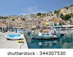 symi  simi  island   dodecanese ... | Shutterstock . vector #344307530