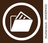document folder vector icon....   Shutterstock .eps vector #344309453