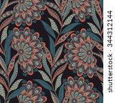 floral vector illustration in... | Shutterstock .eps vector #344312144