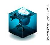 isometric cube illustration... | Shutterstock .eps vector #344326973