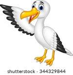 Cartoon Funny Seagull...