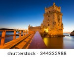 the tower of st. vincent  belem ... | Shutterstock . vector #344332988