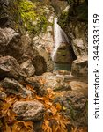 autumn landscape with a river ... | Shutterstock . vector #344333159