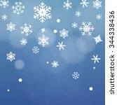 snow night background vector | Shutterstock .eps vector #344338436
